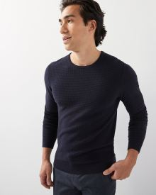 Textured crew-neck sweater