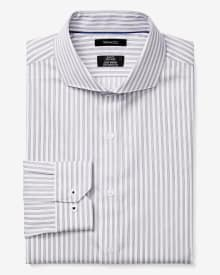 Slim fit vertical stripe Dress Shirt
