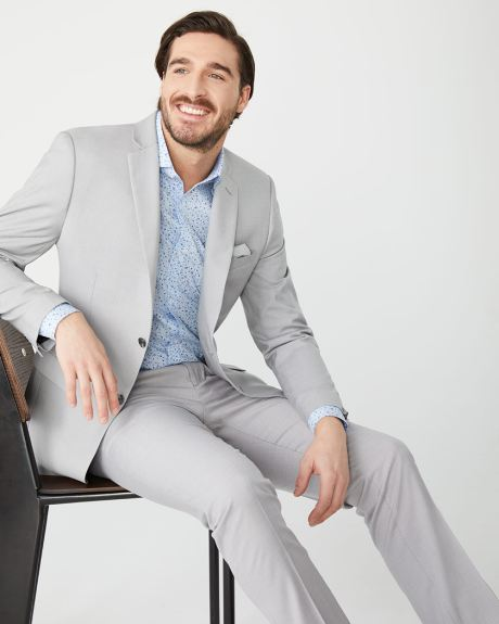 Essential Tailored Fit light heather Grey suit pant
