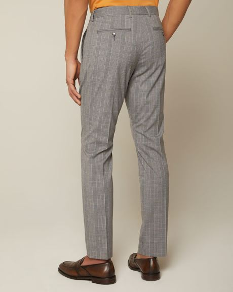 Slim fit grey and yellow check pant