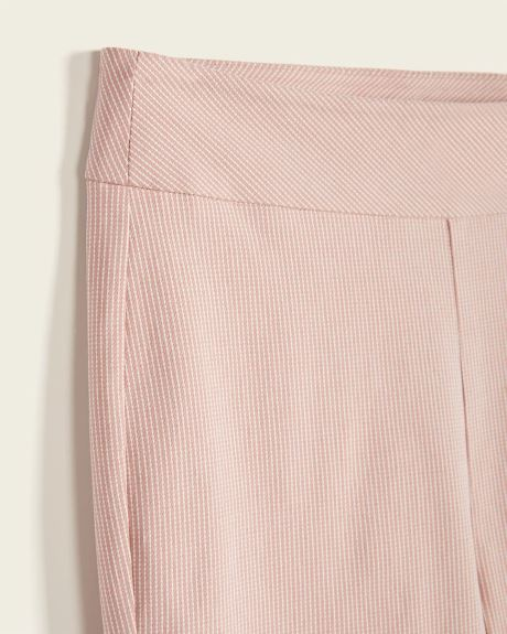 C&G Light Pink Stripes Cropped City Legging Pant