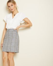 Plaid short High-rise skirt