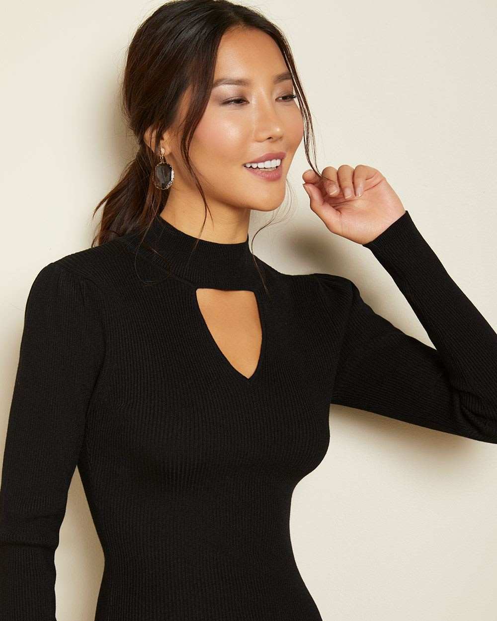 Bodycon Ribbed sweater dress