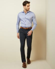 Slim fit Heather navy City Pant II
