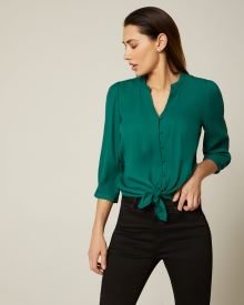 3/4 sleeve Front knot blouse
