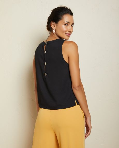 Sleeveless Buttoned back blouse