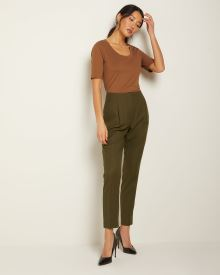 High-waist tapered leg ankle Pant