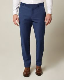 Essential Athletic Fit blue wool-blend suit Pant - 30''