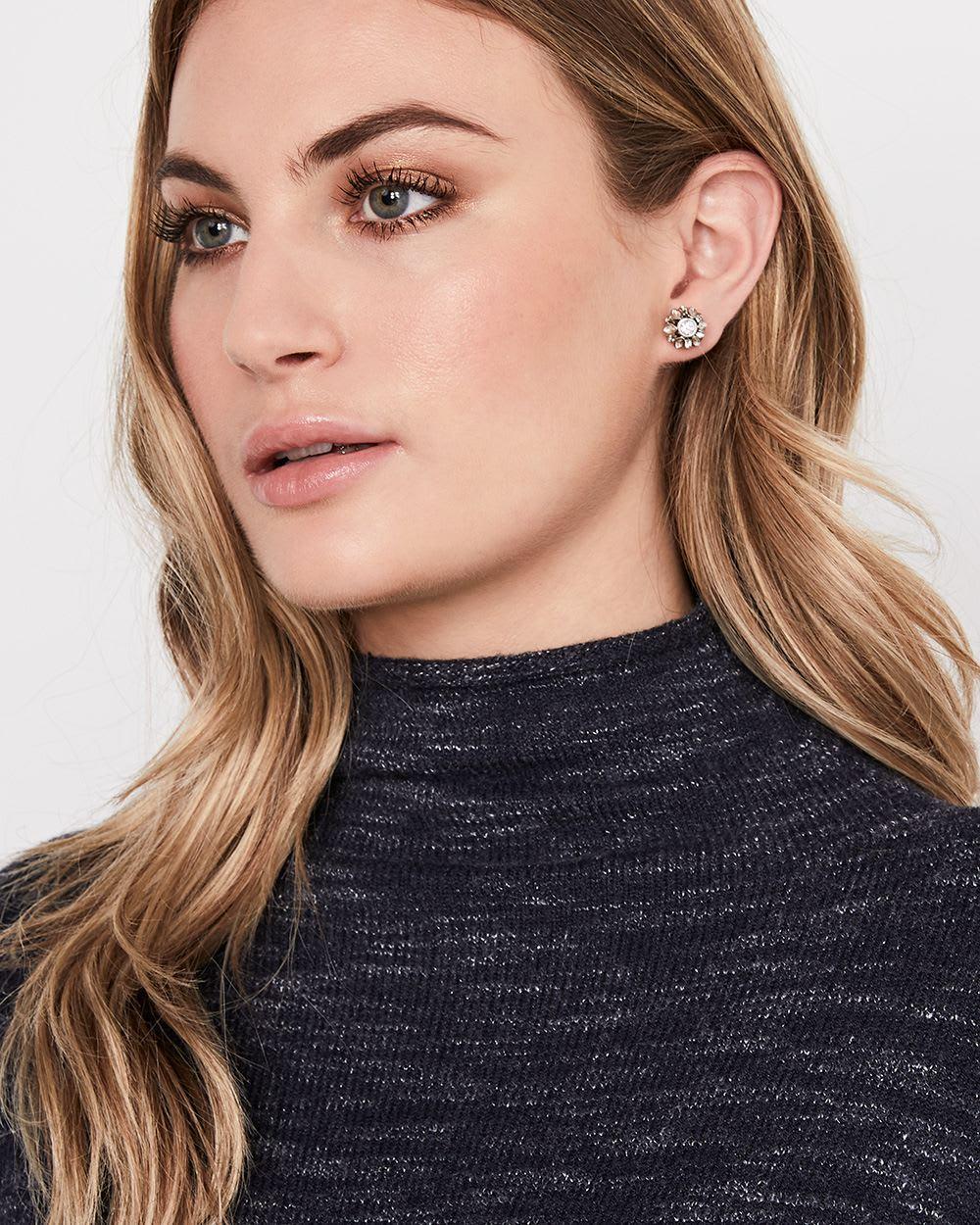 Front Back Pearl Earrings