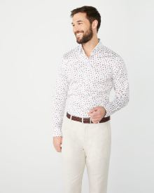 Slim Fit soft floral dress shirt