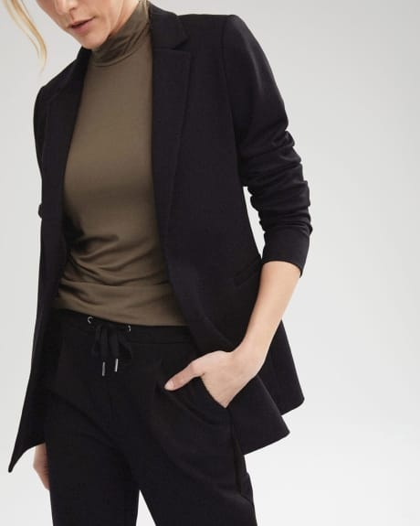 Long Loose-fit Open Blazer