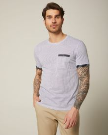 Printed Crew-neck t-shirt with contrast trim