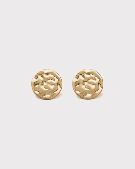 Gold Coin statement earrings