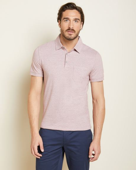 Short Sleeve Striped jersey polo