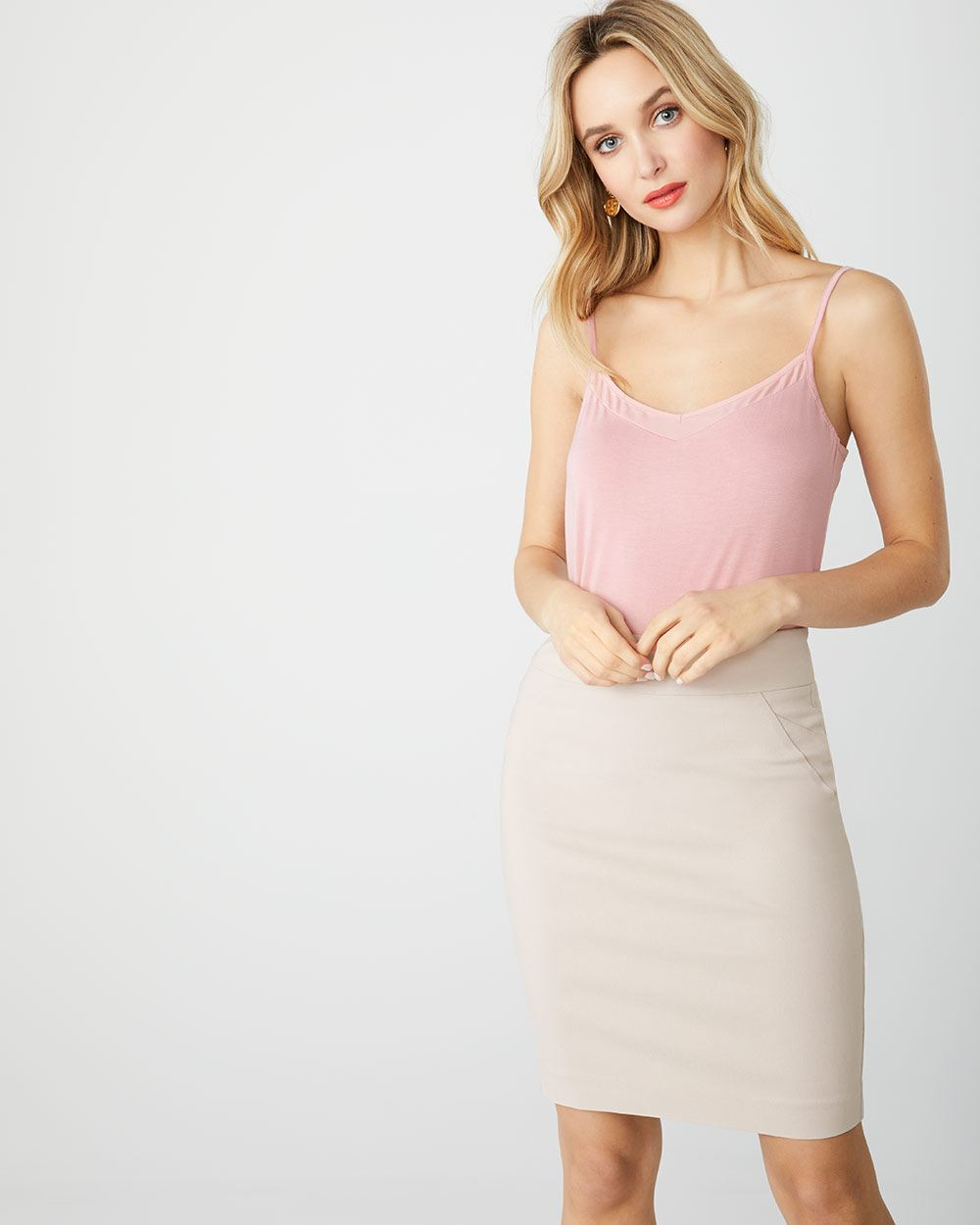 Satin-trimmed Cami with Adjustable Straps