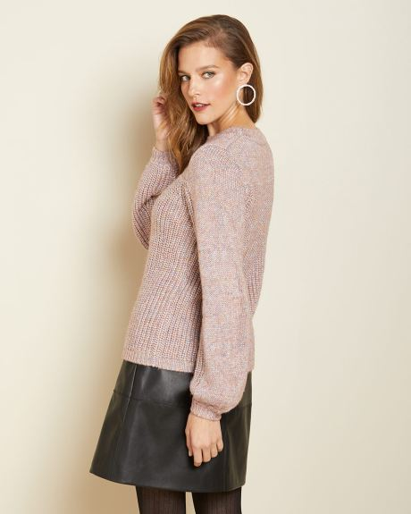 Sparkly Puffy sleeve sweater
