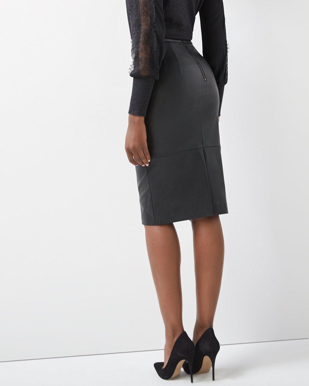 84aaec637f High-Waist Faux leather pencil skirt | RW&CO.