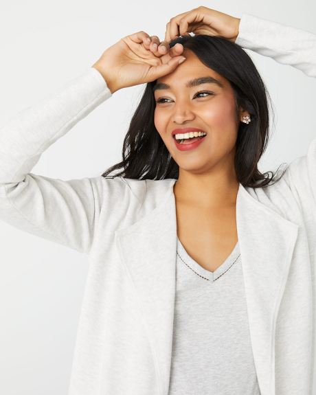 Light Grey Cascading open-front cardigan
