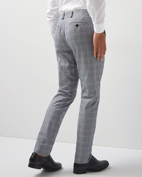 Slim Fit grey check pant