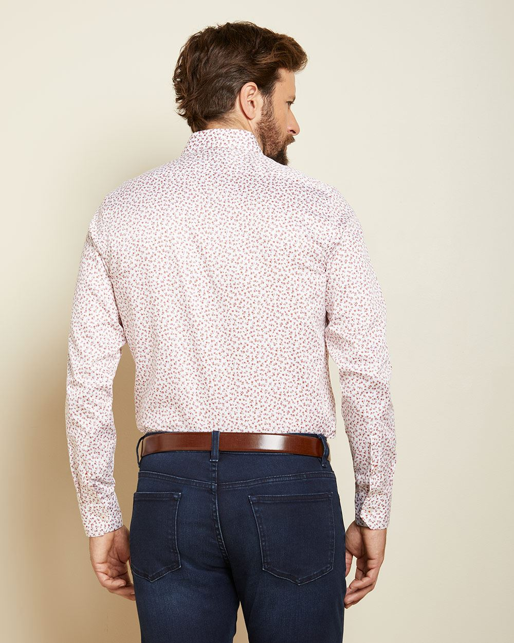 Tailored Fit micro floral dress shirt