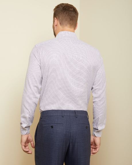 Athletic fit mini check dress shirt