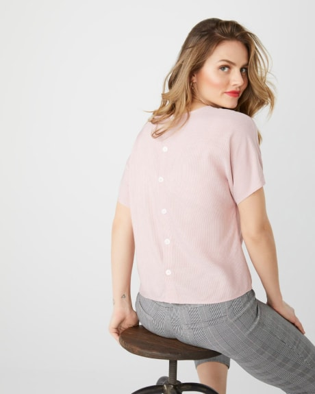 C&G tie front short sleeve blouse