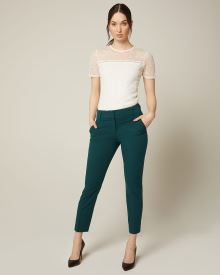 Peacock green Slim Leg Ankle Pant