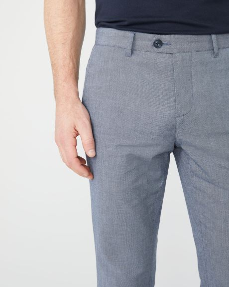Pantalon Chambray Coupe Étroite - 34''