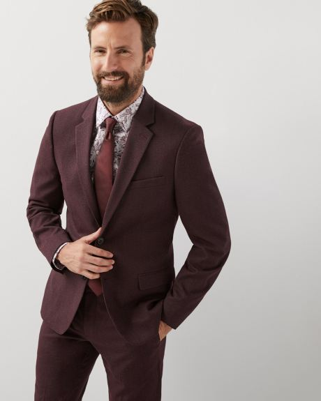 Slim fit twisted yarn 40-hour blazer