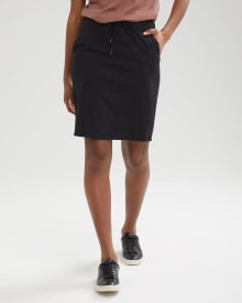 Stretch Knit Pull-On Skirt
