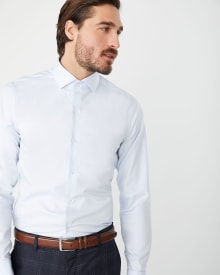 Slim Fit pastel blue dress shirt with French cuff