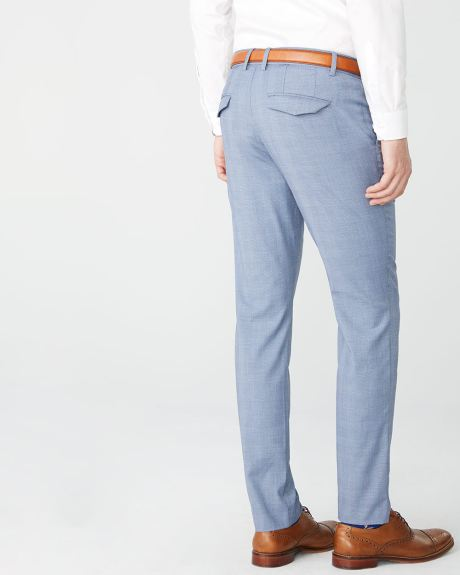 Slim fit blue glen check City Pant