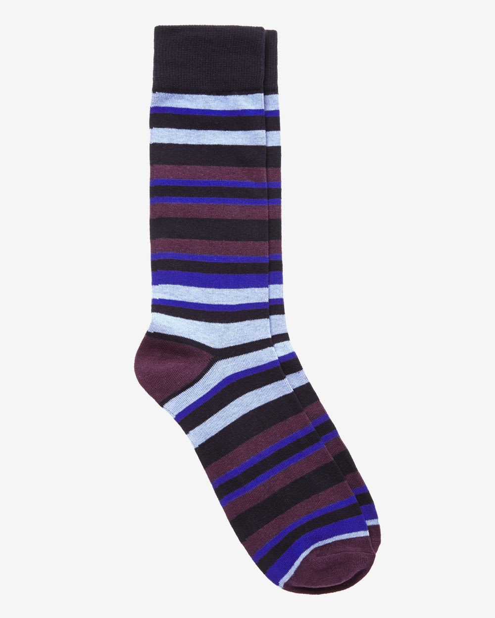 Cotton Marled Socks. BROOKS BROTHERS. 45% linen, 38% cotton, 17% nylon. Machine wash, no tumble dry, no iron. Shoe size 7 1/2 -