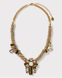 Cord statement necklace