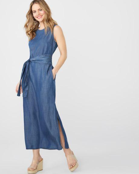 743fd1913df ABS by Allen Schwartz belted denim maxi dress