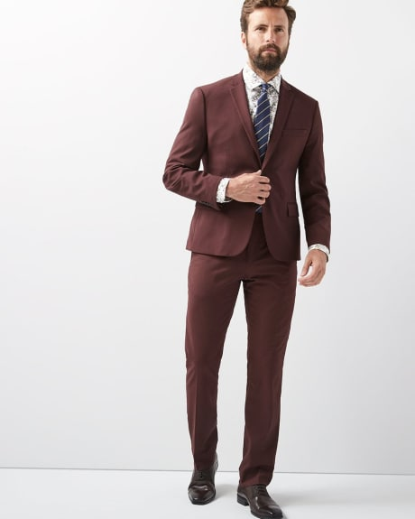 Slim Fit Deep Red Pant - Tall