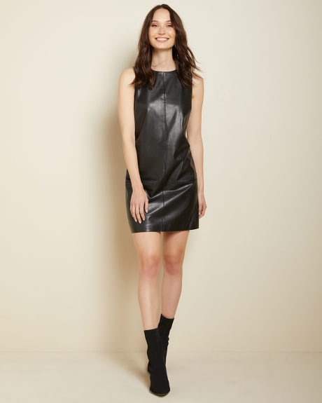 Sleeveless Faux leather dress