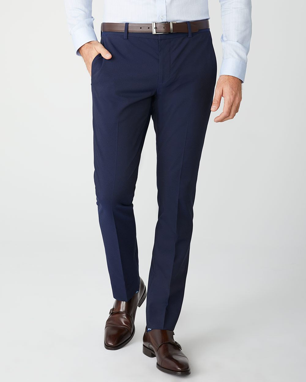 Slim Fit E-Tech (TM) Navy suit Pant