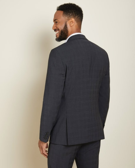 Slim Fit checkered wool-blend Traveler suit Blazer