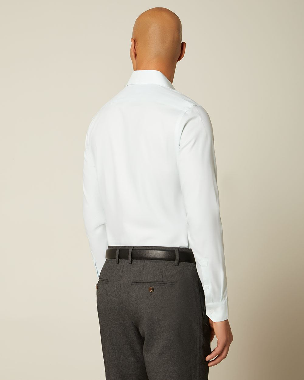 Slim fit tonal dress shirt