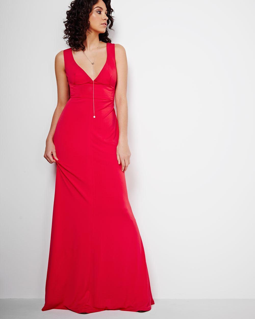 ABS by Allen Schwartz V-Neck Maxi Dress | RW&CO.