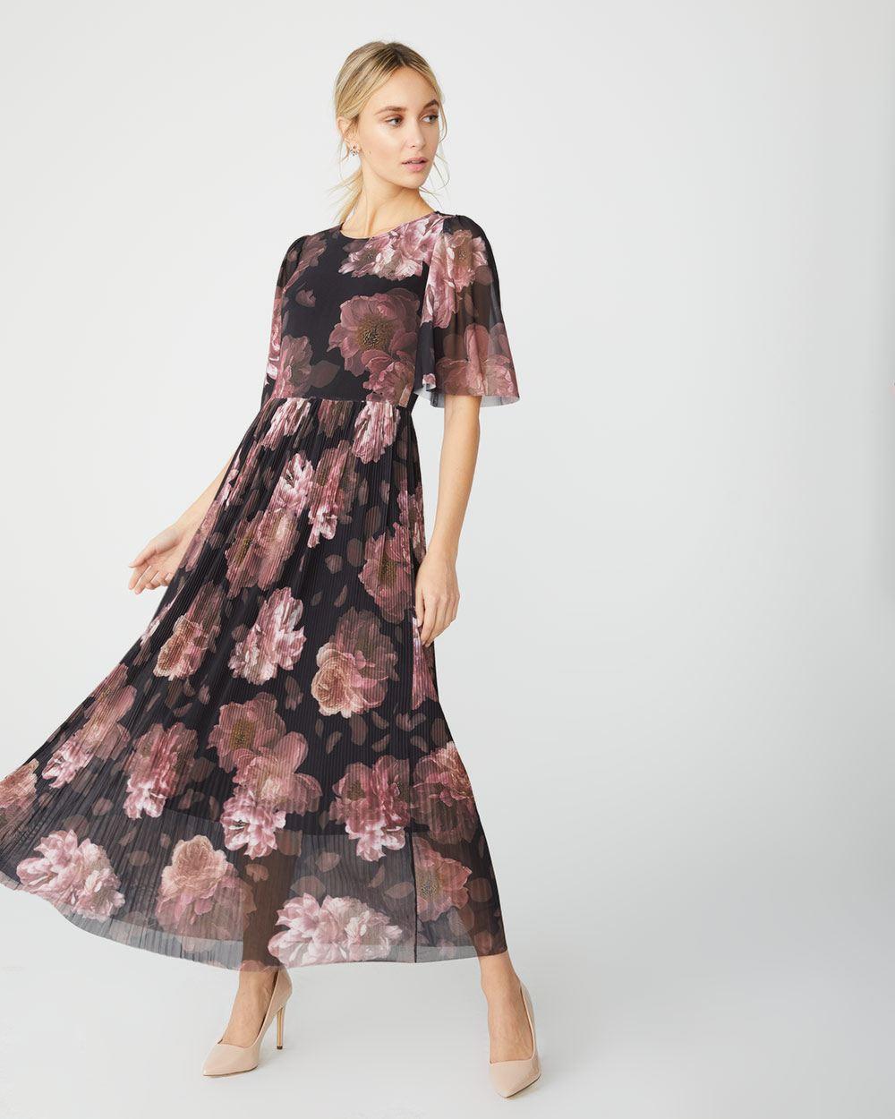 e5e29b8fc64 Floral mesh maxi dress