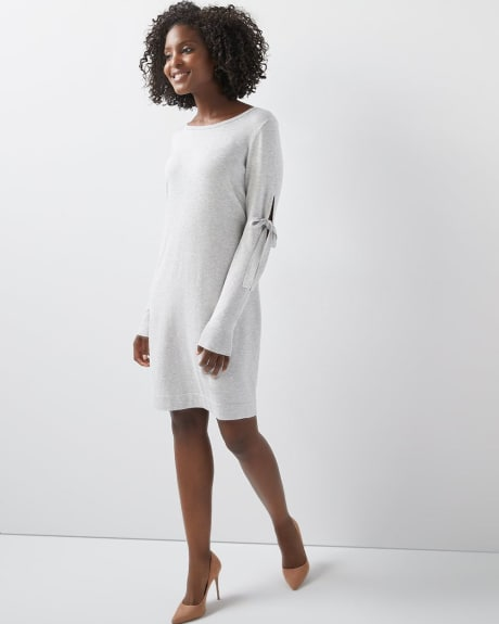 C&G Sweater dress with sleeve ties