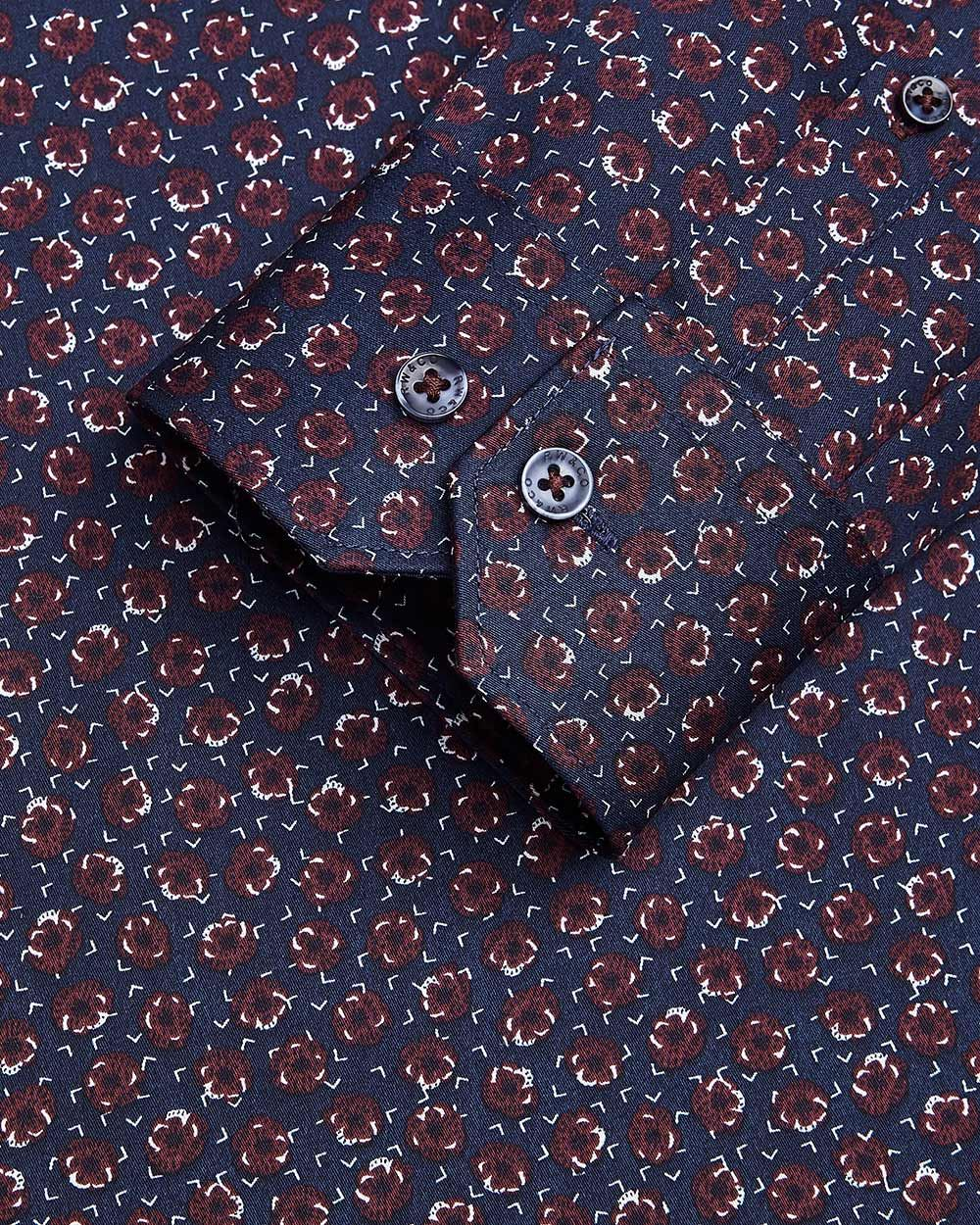 Tailored Fit mini floral Dress Shirt