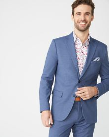 Tailored Fit Coolmax (TM) Crown blue suit blazer - Short