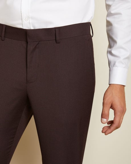 Slim Fit Dark Burgundy suit pant