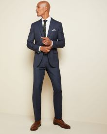 Tailored Fit two-tone windowpane suit pant