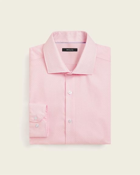 Athletic Fit Soft Pink Textured Dress Shirt