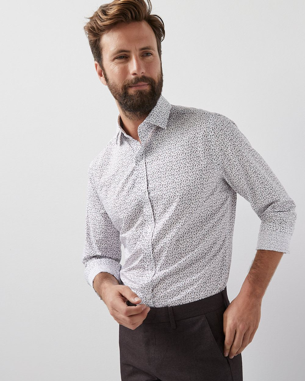 Slim Fit Music Note Dress Shirt Rwco
