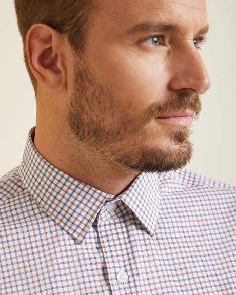 Athletic Fit small check Dress Shirt